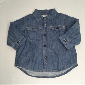 BabyGap Chambray Lined Button Down 12-18M